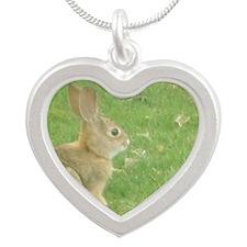Bunny Silver Heart Necklace