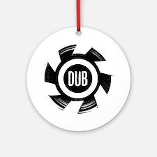 Dub_Black Round Ornament