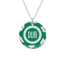 Dub_Green Necklace Circle Charm