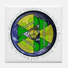 nuclear-recycle Tile Coaster