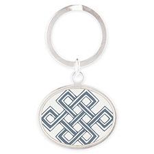 Endless_Knot_Slate Oval Keychain