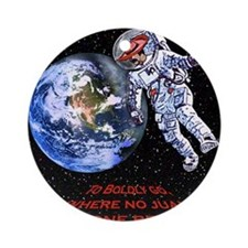 SPACE JUAN mouse pads Round Ornament