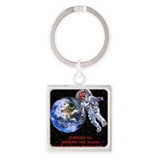 SPACE JUAN mouse pads Square Keychain