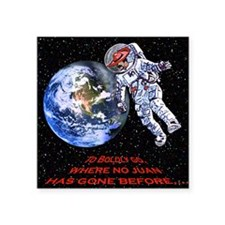"""SPACE JUAN mouse pads Square Sticker 3"""" x 3"""""""