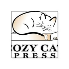 "cozycatlogowithoutbackgroun Square Sticker 3"" x 3"""