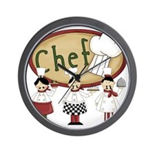 Three Chefs Wall Clock