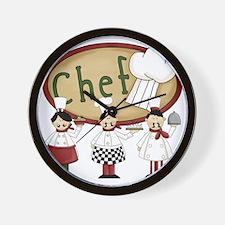 Three Chefs Wall Clock