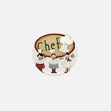 Three Chefs Mini Button