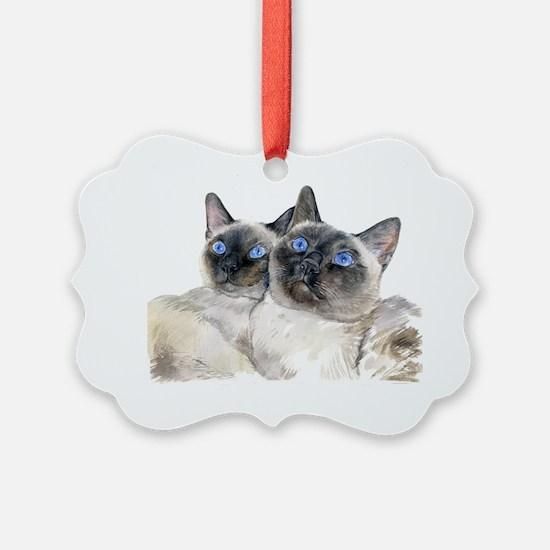 BllueEyedSimCats.REWORKEDpng Ornament