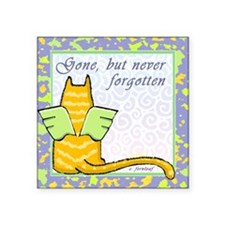 "catneverfogotten Square Sticker 3"" x 3"""