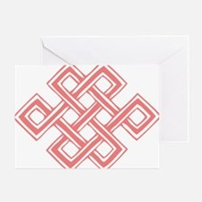 Endless_Knot_Coral Greeting Card