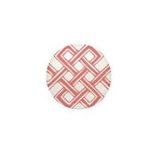 Endless_Knot_Coral Mini Button