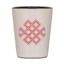 Endless_Knot_Coral Shot Glass
