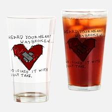 Good Broken Heart Drinking Glass