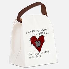 Good Broken Heart Canvas Lunch Bag