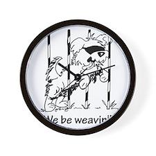 We be weavin!! Wall Clock