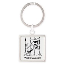 We be weavin!! Square Keychain
