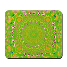 green apple Mandala Mousepad