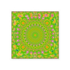 "green apple Mandala Square Sticker 3"" x 3"""