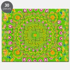 green apple Mandala Puzzle