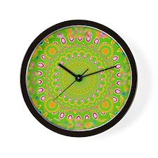 green apple Mandala Wall Clock