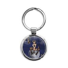 Queenie tile coaster template Round Keychain