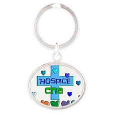 Hospice CNA Oval Keychain