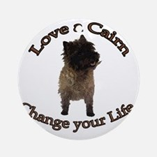 loveacairn Round Ornament