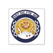 "58th_tac_ftr Square Sticker 3"" x 3"""