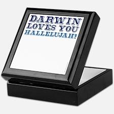 Darwin Loves You Hallelujah atheist s Keepsake Box