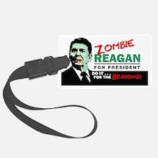2-zombie reagan Luggage Tag