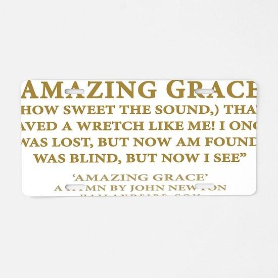 Emblem_Newton-AmazingGrace Aluminum License Plate