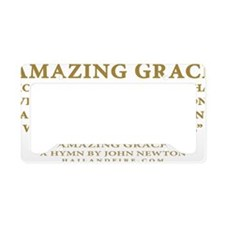 Emblem_Newton-AmazingGrace License Plate Holder