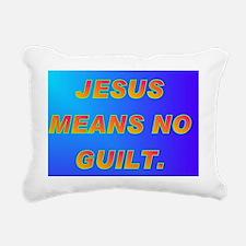 JESUS MEANS NO GUILT(pos Rectangular Canvas Pillow