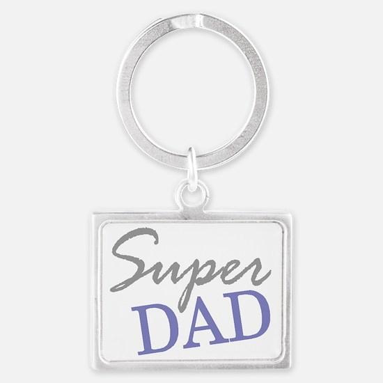 Super Dad Landscape Keychain