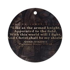 Mousepad_Quote_Askewe Round Ornament