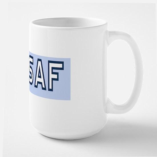 USAF-First-SMSgt-Old-BSticker Large Mug