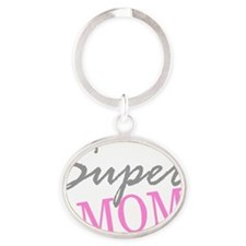 Super Mom Oval Keychain