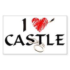 castle1lt Sticker (Rectangle)