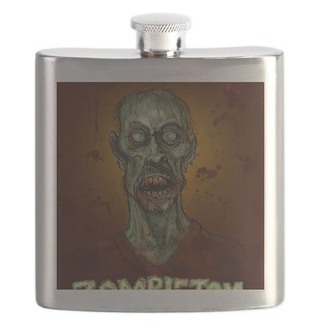 zombie tom t shirt Flask