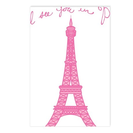 ill-see-you-in-paris_tr Postcards (Package of 8)