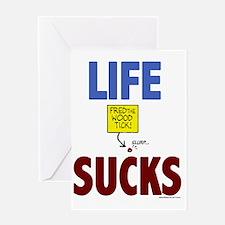2-lifesucks Greeting Card