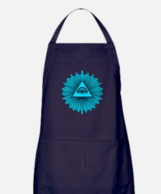 All Seeing Eye Blue Apron (dark)