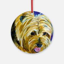 terrier-misu Round Ornament