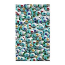 Eyeballs In Many Colors 3'x5' Area Rug