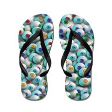 Eyeballs In Many Colors Flip Flops