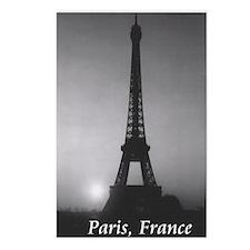 Eiffel Tower Black n Whit Postcards (Package of 8)