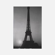 Eiffel Tower Black n White Rectangle Magnet
