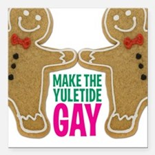 "2-YULETIDE_Poster-NoRob Square Car Magnet 3"" x 3"""