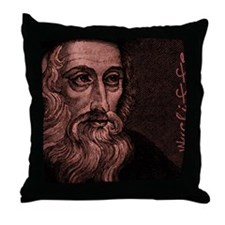Mousepad_Head_Wycliffe Throw Pillow